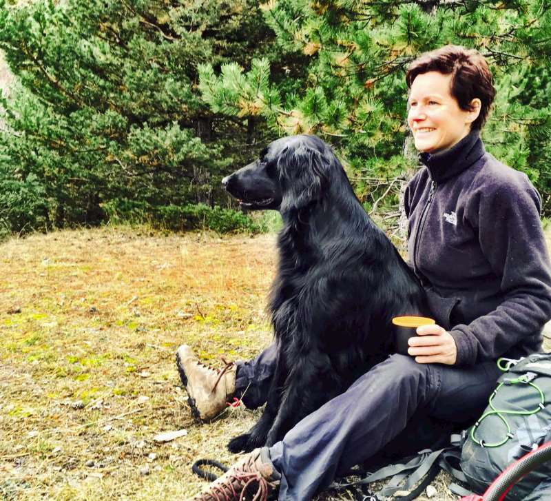 Sandra and Floyd - drinking coffee in embrun