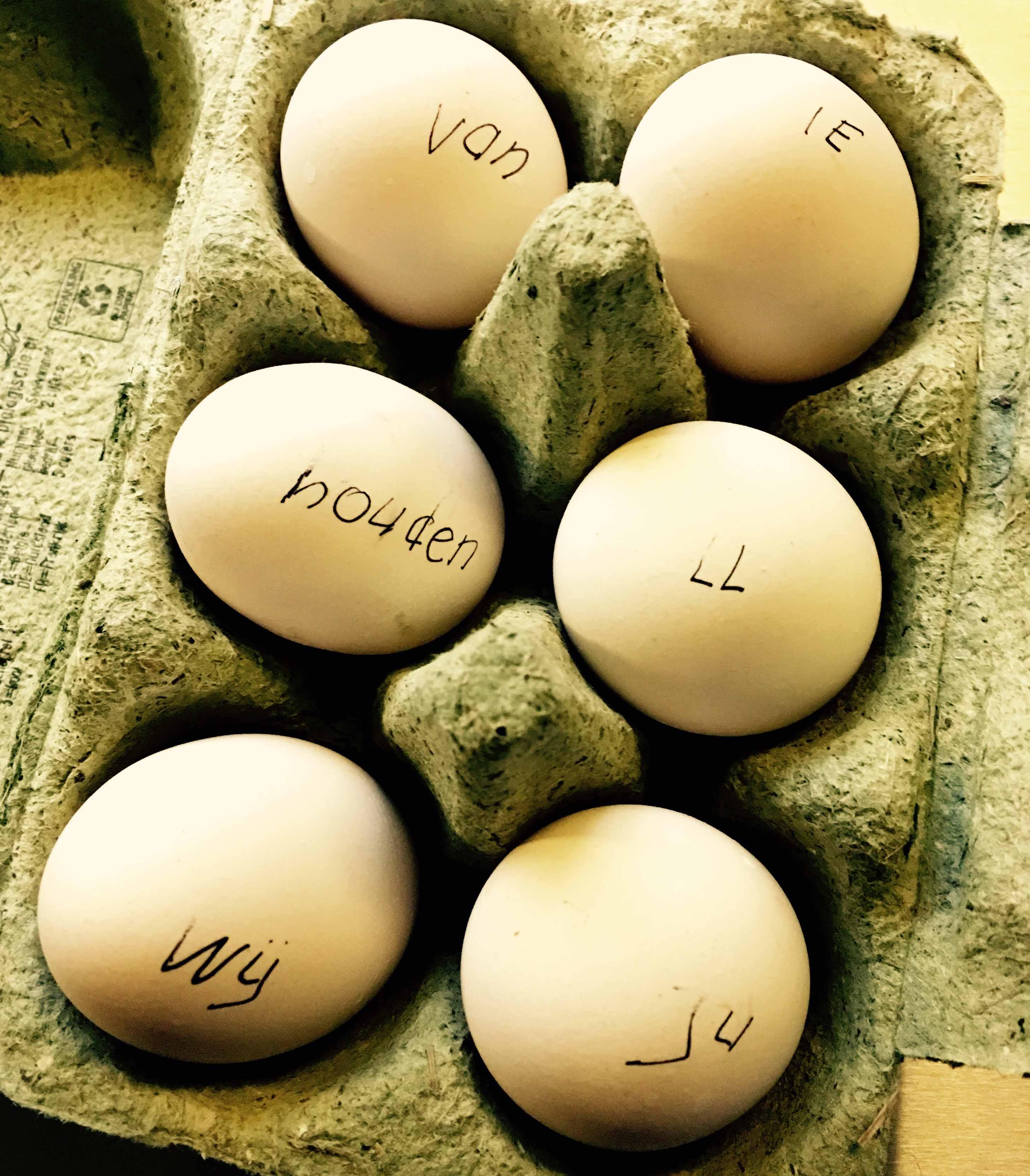 ontroerende eieren