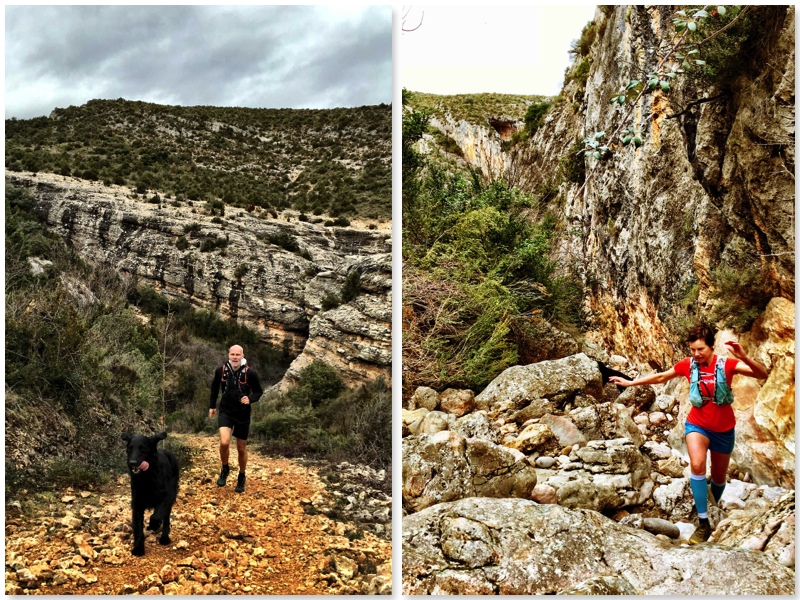 Jeroen and Sandra trailrunning in the Pyrenees